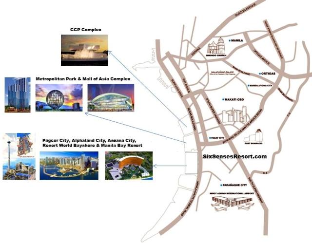 SixSenses Resort is located in Metropolitan Park in Bay City Manila